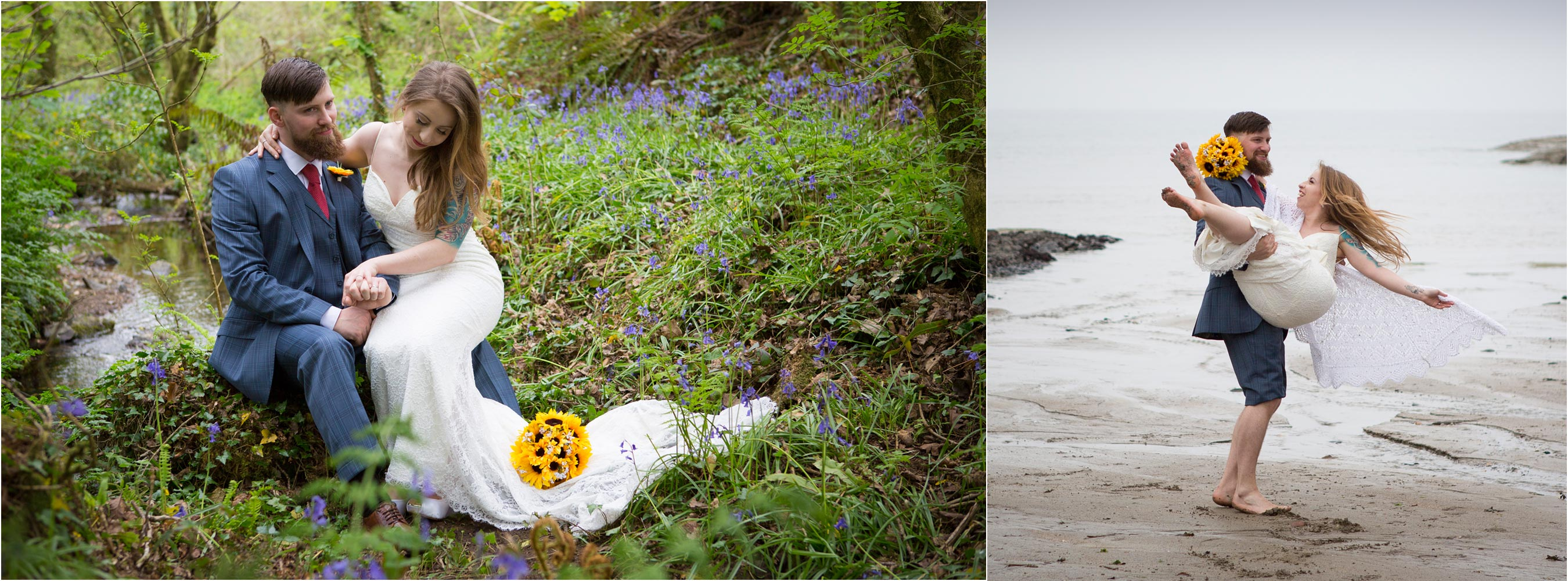 Woodland Bluebell Elopement Port Gaverne
