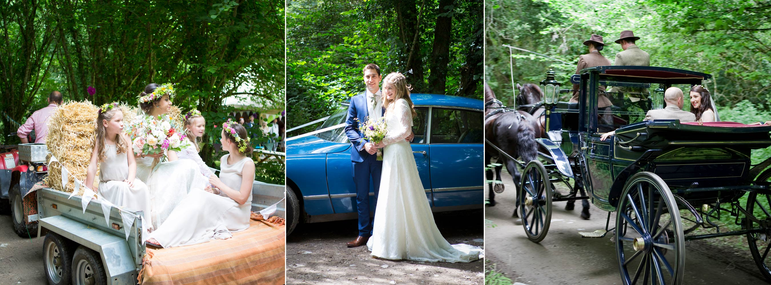 Different Styles of Wedding Transport